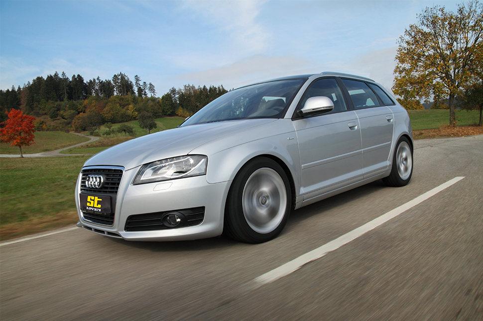 Auch viele Audi S3 Fahrer sind bereits auf die bei KW automotive in Deutschland gefertigten ST X, ST XA und ST XTA Gewindefahrwerke umgestiegen.
