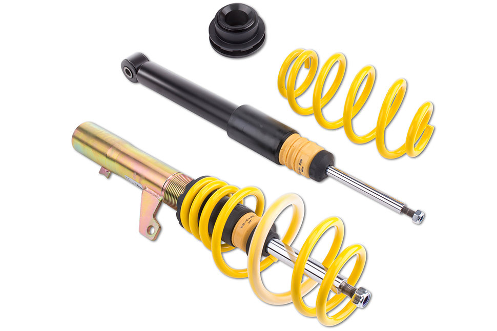 Bei diesem Fahrwerk werden bei KW automotive die Dämpfer mit nicht einstellbaren Dämpferventilen aufgebaut und die perfekte Dämpfung in der Fertigung voreingestellt.
