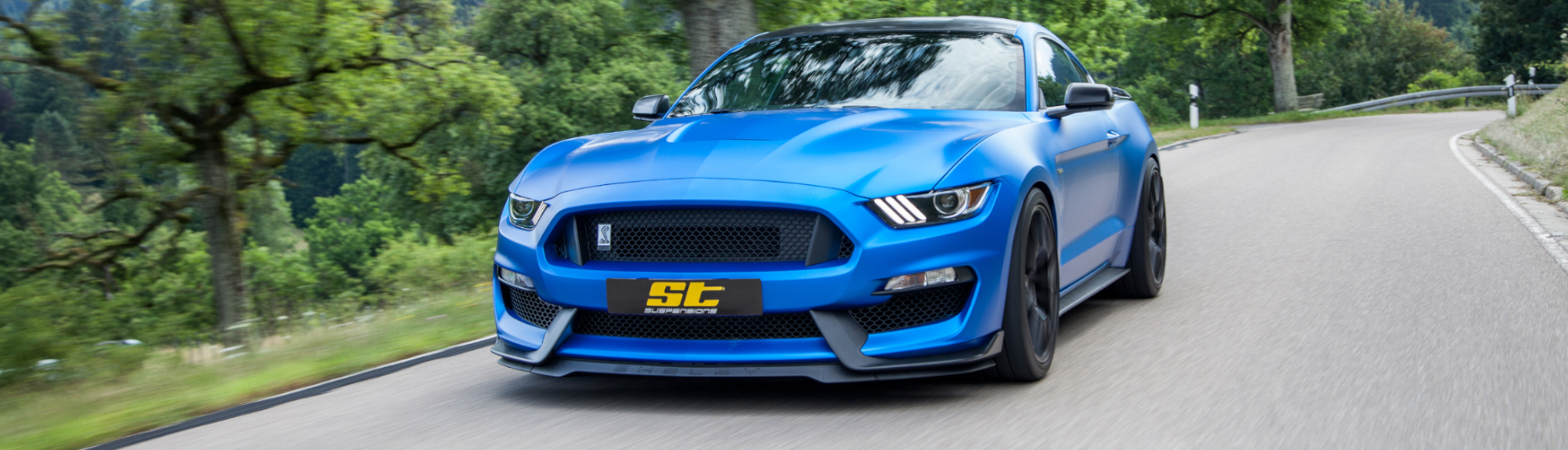 ST XTA Gewindefahrwerk im Ford Mustang LAE Faceliftmodell