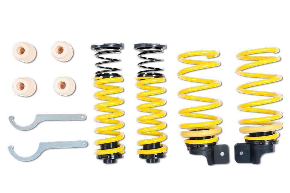 Mit den ST Gewindefedern kann am Ford Mustang LAE eine stufenlose Tieferlegung von 15 – 30 Millimeter eingestellt werden.